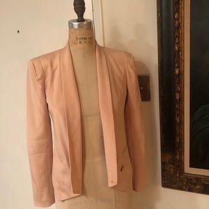 Rebecca Minkoff light pink cropped blazer